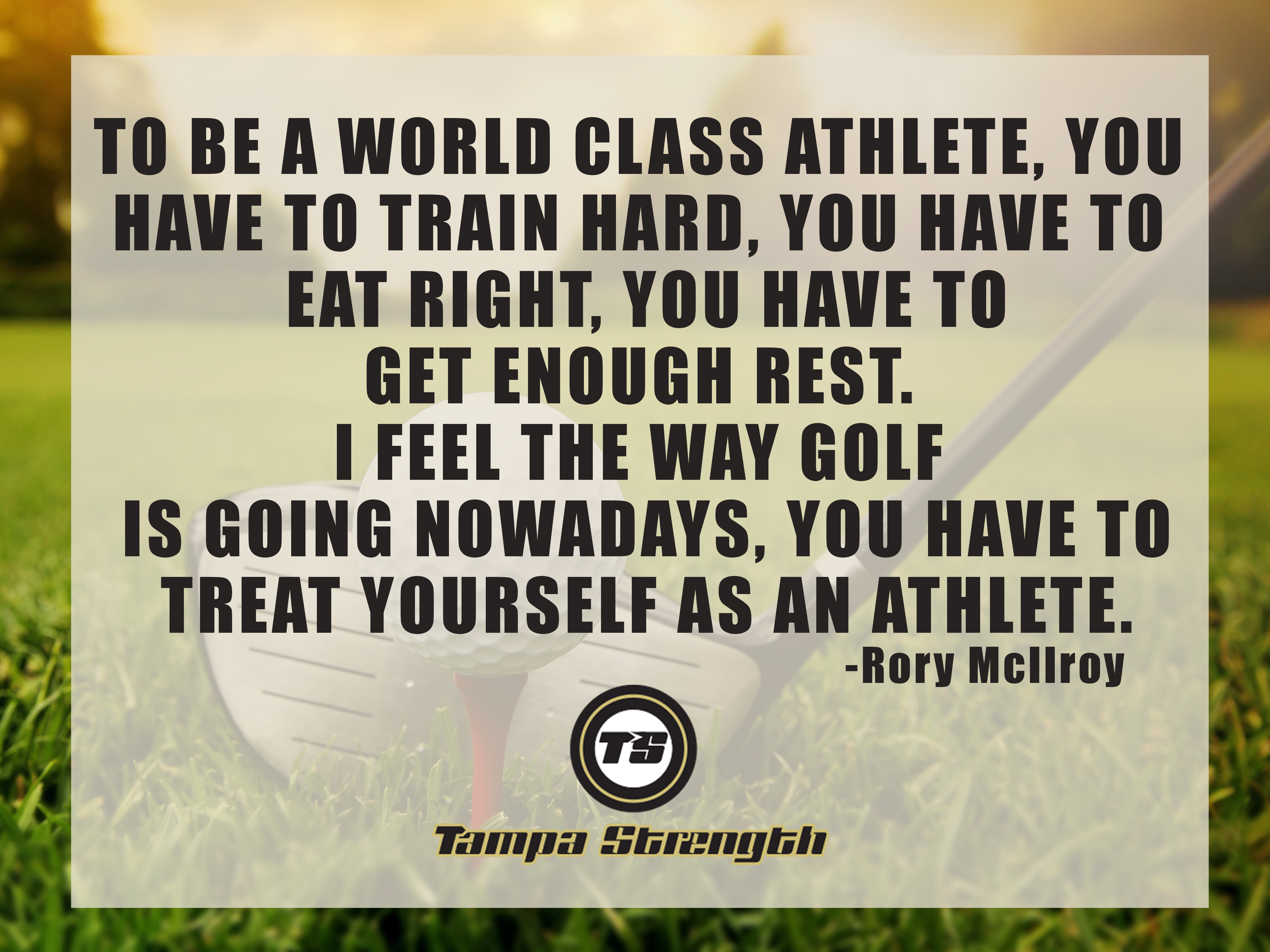 Golf Quote Golf Motivation  Tampa Strength