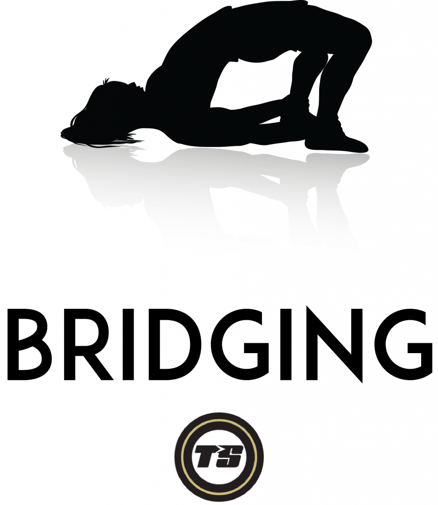 Example of a bridge to strengthen the glutes.