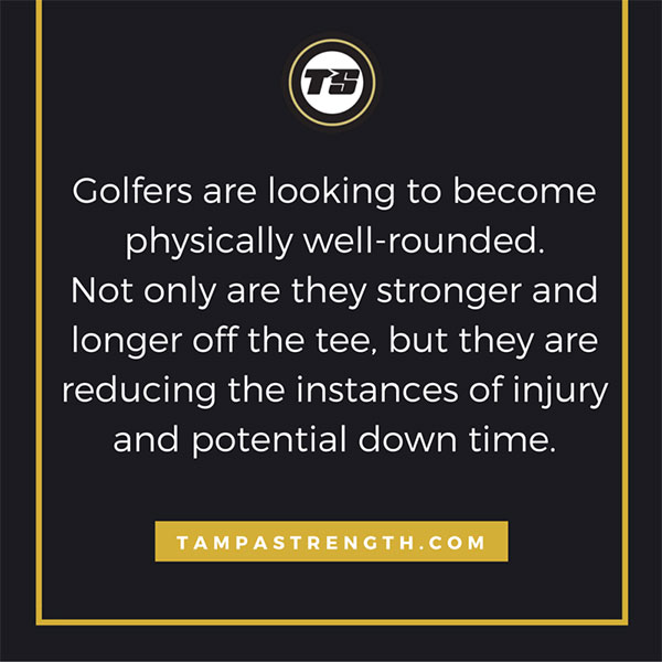 Golfers are looking to physically well rounded