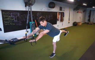 Demonstration of how you can use the TRX suspension trainer to improve your golf game
