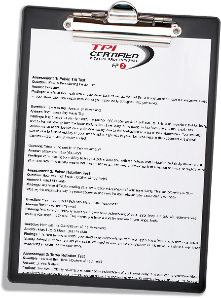 South Tampa Golf Fitness TPI Report